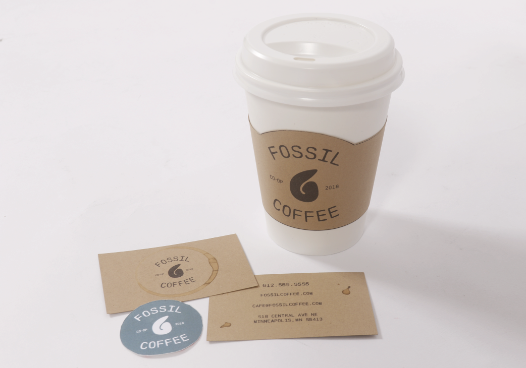 image of fossil coffee branding