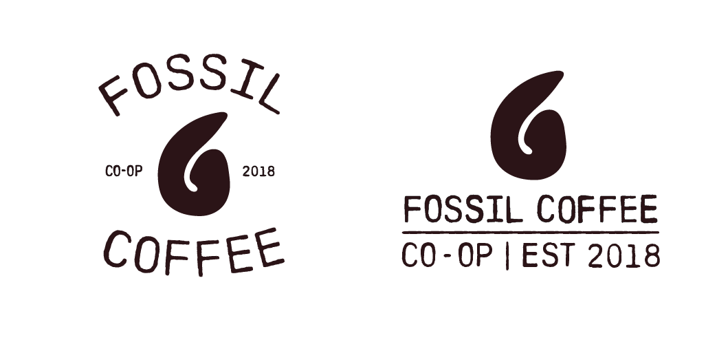 image of fossil coffee logos