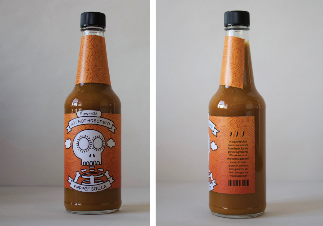 image of habenero hot sauce bottle design