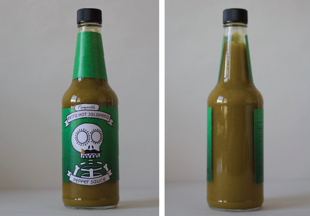 image of jalapeno hot sauce bottle design